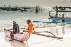 Jimbaran, fishing boats