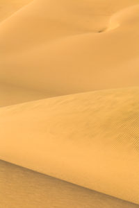 Details and shapes of the sand dunes modeled by wind Walvis Bay Namib Desert Erongo Region Namibia Southern Africa