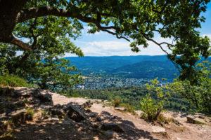 Aussichtspunkt Ritterplatte, mit Blick einen Vorort von Baden-Baden.