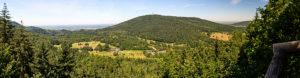 Panoramaaussicht vom Korbmattfelsen.