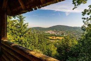 Blick von der Aussichtsplattform Louisfelsen