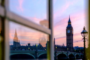 The Big Ben at the sunset, London, England, United Kingdom