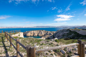 Landscape in the illes de Frioul in front of Marseille France Europe