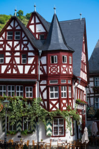 Weinhaus Altes Haus restaurant, Bacharach, Rhine Gorge, Rhineland-Palatinate, Germany, Europe