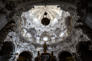 The baroque interior of the church of Las Mercedes in Priego de Cordoba is one of the best examples of this type of architecture in all of Andalucia and Spain.