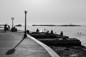 Promenade, Strand, Stadt, Menschen, Meer