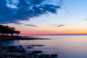 Küste, Abendrot, Dämmerung, Meer, Stimmung