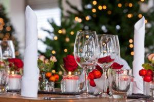 Tischdekoration, winterlich, Dekoration, weihnachtlich, Fest, Tisch, Weihnachten
