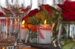 Tischdekoration, winterlich, Dekoration, weihnachtlich, Fest, Tisch,