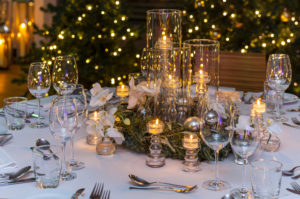 Tischdekoration, winterlich, Dekoration, weihnachtlich, Fest, Tisch