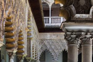 Europe, Spain, Andalusia, Seville, Alcázar, Reales Alcázares de Sevilla, Patio de las Doncellas,