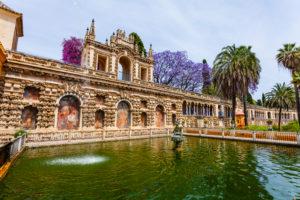 Europe, Spain, Andalusia, Seville, Alcázar, Reales Alcázares de Sevilla, garden, park