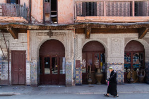 Africa, Morocco, Marrakech, old town, medina, person, street,