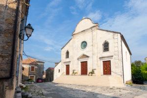 Europa, Kroatien, Istrien, Oprtalj, Dom St. Georg