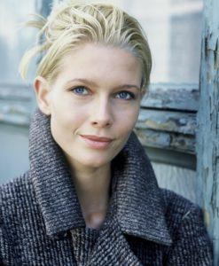 Woman, blond, winter coat, portrait,