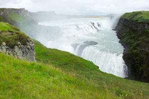 Rapid water, Gullfoss, Iceland