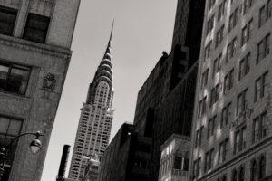 Blick auf das Chrysler Building, Met Life Building und Uptown, Manhattan, New York, USA