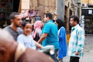 Kairo, Giseh, Ägypten, al-Muizz-Straße, Al Moez Ldin Allah Al Fatmi, Menschen, Einheimische