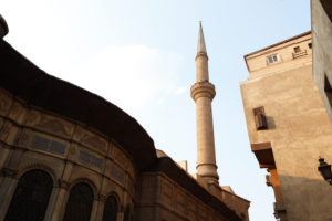 Kairo, Giseh, Ägypten, al-Muizz-Straße, Al Moez Ldin Allah Al Fatmi, Gebäude