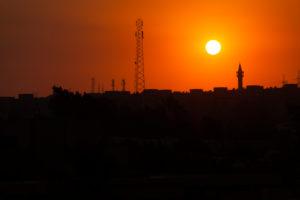 Kairo, Giseh, Ägypten, Sonnenuntergang