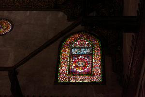 Cairo, Giza, Egypt, al-Muizz Street, Al-Muizz Al-Deen Allah Street, Old Cairo, Al Moez Ldin Allah Al Fatmi, Muizz Street,  buildings, interior, stained-glass windows