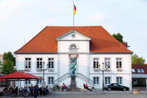 Germany, Lower Saxony, Quakenbrück, town hall,