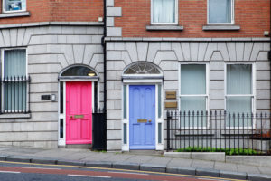Ireland, Dublin, colorful front doors