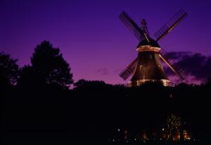 Wallmühle in Bremen bei Nacht