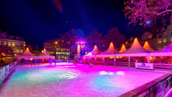 Kohlmarkt, Weihnachtsmarkt, blaue Stunde, Nacht, Braunschweig, Niedersachsen, Deutschland, Europa