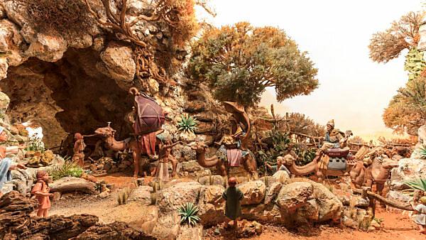 Belen, Museum, Weihnachtskrippe, Arcos de la Frontera, Andalusien, Spanien, Europa