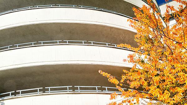 Parkhaus, Karstadt, Fassade, Architektur, Braunschweig, Niedersachsen, Deutschland, Europa