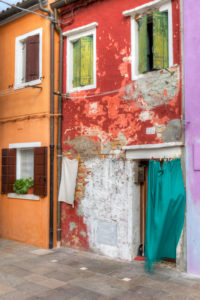 colorful painted houses, Burano, Venice, Veneto, Italy, Europe