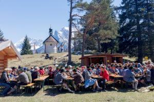 Georgiritt, Kapelle, 'Maria Königin' am Lautersee, Mittenwald, Bayern, Oberbayern, Deutschland,