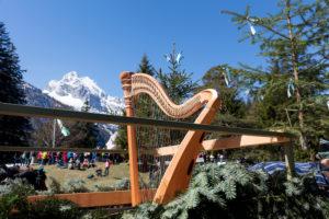 Georgiritt, Messe, Harfe, Berge, am Lautersee, Mittenwald, Bayern, Oberbayern, Deutschland,