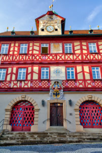 Town Hall, Facade, Old Town, Bad Staffelstein, Franconia, Bavaria, Germany, Europe,
