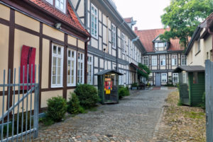Old Posthof, House View, Facade, half-timber, Old Town, Celle, Lower Saxony, Lüneburg heathland, Northern Germany, Germany, Europe