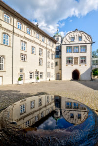Guelph's castle, castle courtyard, Weserrenaissance, historically, Gifhorn, Lower Saxony, Lüneburger Heide, Germany, Europe