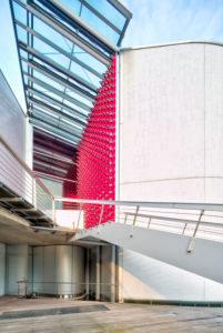 Autostadt, Seat Gebäude, Fassade, Architektur, Wolfsburg, Niedersachsen, Deutschland, Europa