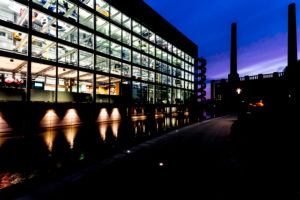 VW factory, car city, VW factory, blue hour, Wolfsburg, Lower Saxony, Germany, Europe