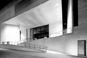 Museum, Georg Schäfer, Facade, Architecture, Blue Hour, Schweinfurt, Franconia, Bavaria, Germany, Europe