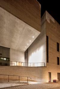 Museum, Georg Schäfer, Fassade, Architektur, Abend, Schweinfurt, Franken, Bayern, Deutschland, Europa
