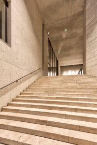 Museum, Georg Schäfer, Fassade, Aufgang, Architektur, Abend, Schweinfurt, Franken, Bayern, Deutschland, Europa