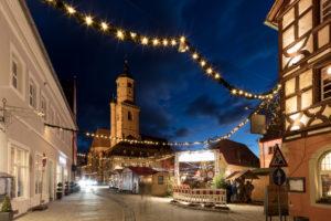 Christmas market, Christmas, Decoration, Volkach, Franconia, Bavaria, Germany, Europe,