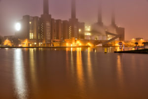 VW Plant, Mittelland Canal, car city, Golden Hour, Night, Architecture, Power Station, Wolfsburg, Lower Saxony, Germany, Europe