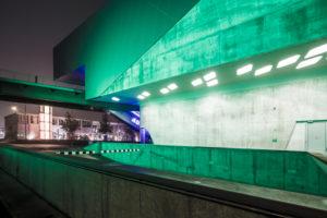 Phaeno, Museum, Science Center, Zaha Hadid, Abend, Architektur, Wolfsburg, Niedersachsen, Deutschland, Europa