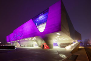 Phaeno, Museum, Science Center, Zaha Hadid, Evening, Architecture, Wolfsburg, Lower Saxony, Germany, Europe
