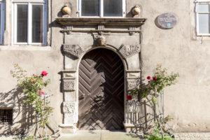 Facade, Front Door, Window, Truss, Wolfenbüttel, Lower Saxony, Germany, Europe,