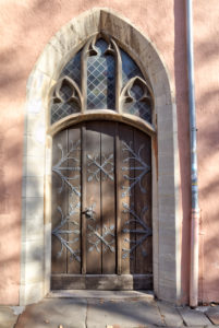 Alte Tür, Hausfassade, Hauseingang, Braunschweig, Niedersachsen, Deutschland, Europa