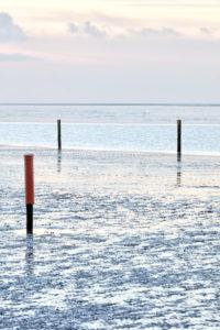 Wadden Sea, Watt, North dike, North, North Sea, East Frisia, Lower Saxony, Germany,