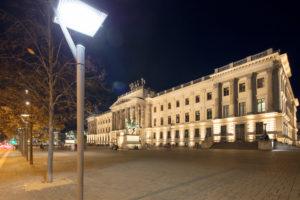 Residenzschloss,  Schlossplatz, blaue Stunde,  Fassade, Architektur, Nacht, Braunschweig, Niedersachsen, Deutschland, Europa